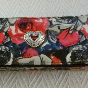 BRIGHTON Madison Rose Floral Zippered Jewelry Case